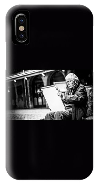 IPhone Case featuring the photograph The Old Man Painter II by Stwayne Keubrick