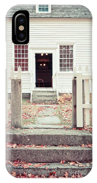 Shaker iPhone Case - The Old Meeting House Canterbury Shaker Village by Edward Fielding