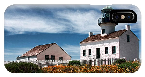 The Old Point Loma Lighthouse By Diana Sainz IPhone Case
