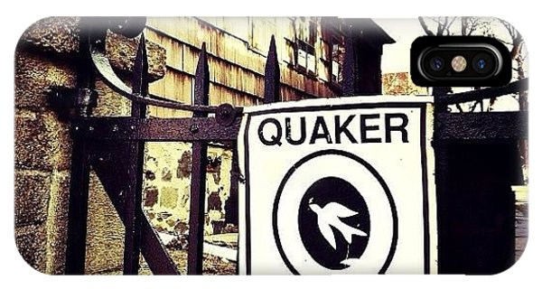 Religious iPhone Case - The Old Quaker Meeting House: Built In by Natasha Marco