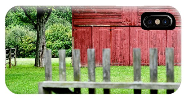 New England Barn iPhone Case - The Old Red Barn by Laura Fasulo