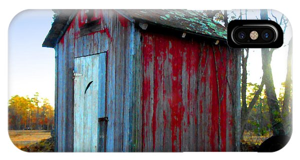 The Old Red Outhouse IPhone Case