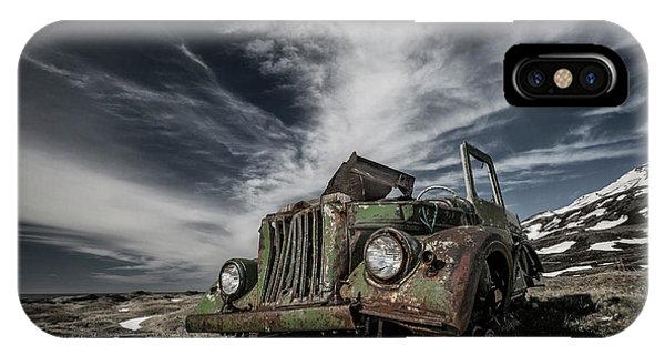 Wreck iPhone Case - The Old Russian Jeep by Bragi Ingibergsson -