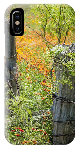 1431 iPhone Case - Marble Falls Texas Old Stalwart Fence Posts by JG Thompson