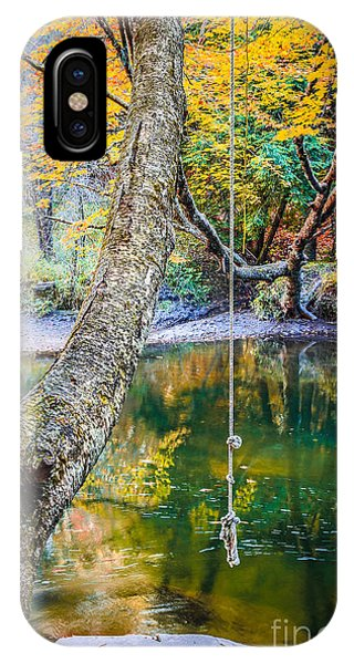 New England Fall Foliage iPhone Case - The Old Swimming Hole by Edward Fielding