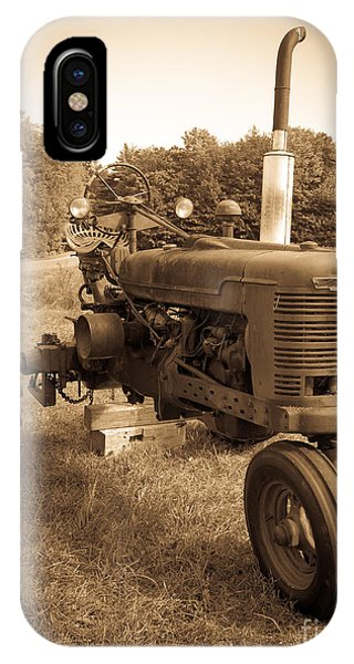 The Old Tractor Sepia IPhone Case