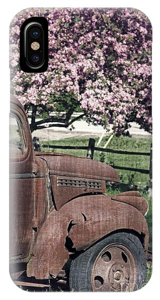 Fielding iPhone Case - The Old Truck And The Crab Apple by Edward Fielding