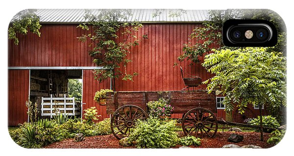 Amish Country iPhone Case - The Old Wood Cart by Debra and Dave Vanderlaan