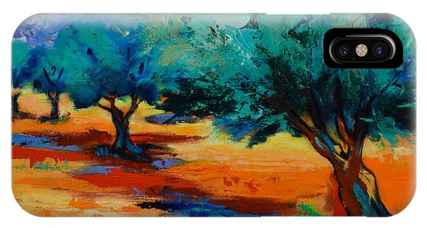 Fauvism iPhone Case - The Olive Trees Dance by Elise Palmigiani