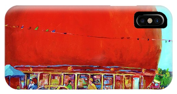 The Orange Julep Montreal Summer City Scene IPhone Case