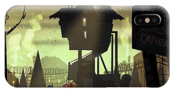 Cartoon iPhone Case - The Orphanage by Kristina Vardazaryan