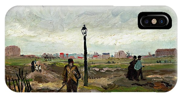 Poverty iPhone Case - The Outskirts Of Paris by Vincent van Gogh