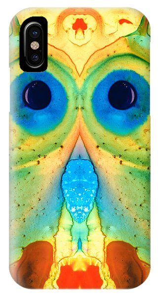 Imagination iPhone Case - The Owl - Abstract Bird Art By Sharon Cummings by Sharon Cummings