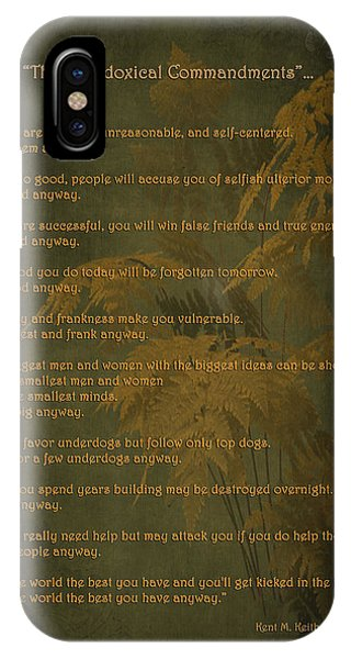 The Paradoxical Commandments IPhone Case