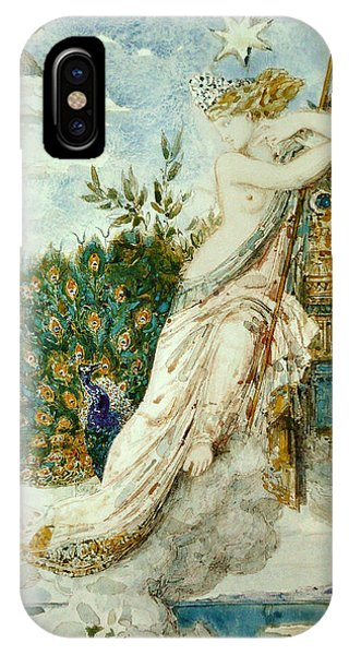 Impressionistic iPhone Case - The Peacock Complaining To Juno by Gustave Moreau