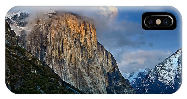 Half Moon iPhone Case - The Pearl - Moonrise Over Yosemite National Park. by Jamie Pham