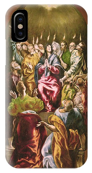 New Testament iPhone Case - The Pentecost, C.1604-14 Oil On Canvas by El Greco