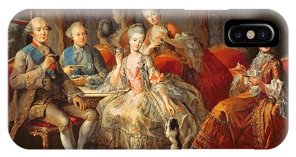 Left iPhone Case - The Penthievre Family Or The Cup Of Chocolate, 1768 Oil On Canvas by Jean Baptiste Charpentier
