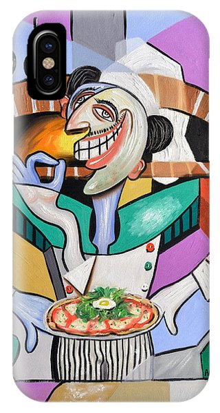 IPhone Case featuring the painting The Personal Size Gourmet Pizza by Anthony Falbo