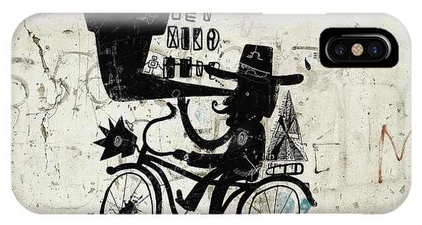 Cycling iPhone Case - The Picture Shows A Man Who Rides A by Dmitriip