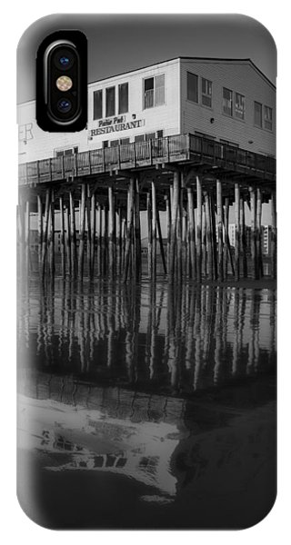 Orchard Beach iPhone Case - The Pier Bw by Susan Candelario