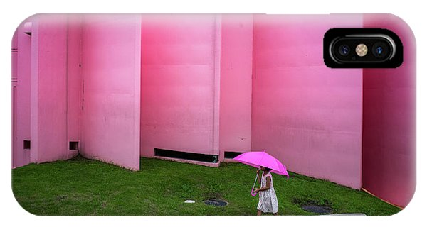 Umbrella iPhone Case - The Pink Color World by Tetsuya Hashimoto
