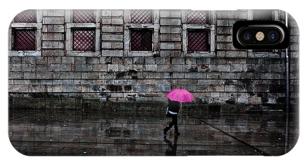 The Pink Umbrella IPhone Case