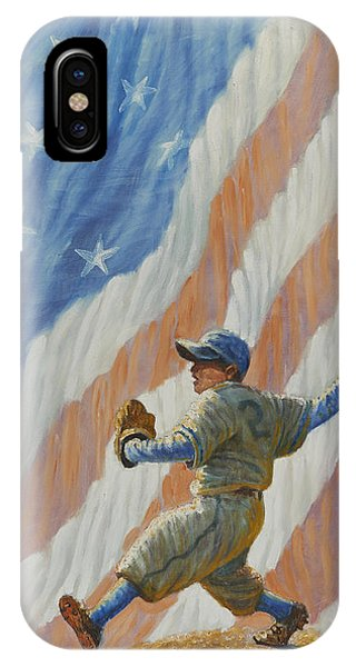 Babe Ruth iPhone Case - The Pitcher by Gregory Perillo