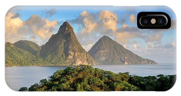 The Pitons - Saint Lucia Phone Case by Brendan Reals