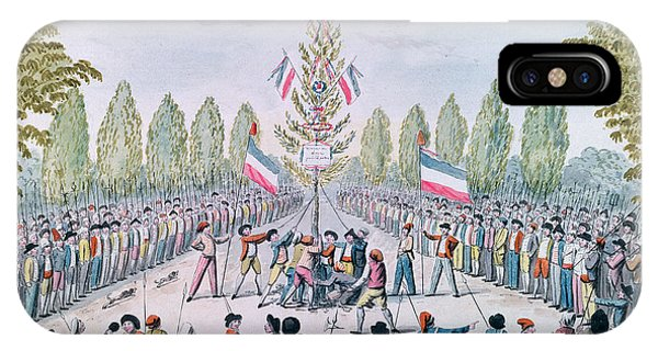 Revolutionary iPhone Case - The Plantation Of A Liberty Tree During The Revolution, C.1792 Wc On Paper by Etienne Bericourt
