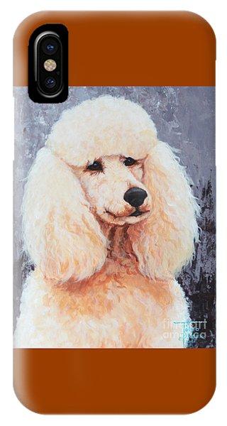 Attentive Poodle IPhone Case