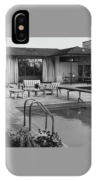 The Pool And Pavilion Of A House IPhone Case