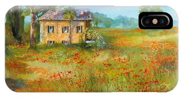 The Poppy Fields Of Tuscany Valley Phone Case by Jane Woodward