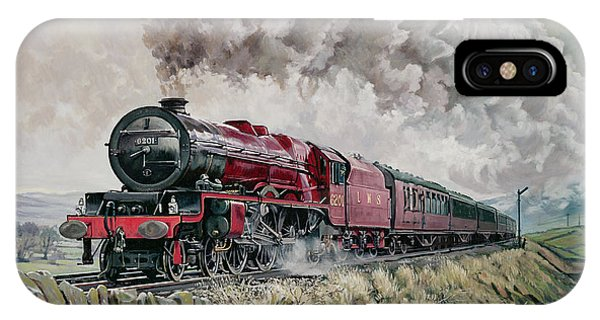 Railroad Signal iPhone Case - The Princess Elizabeth Storms North In All Weathers by David Nolan