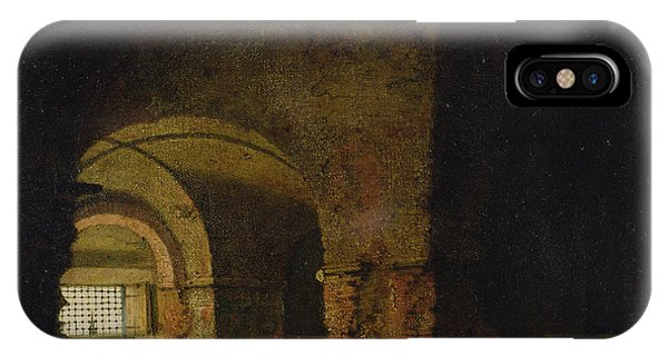 Dungeon iPhone Case - The Prisoner, C.1787-90 Oil On Canvas by Joseph Wright of Derby