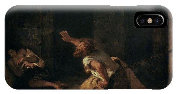 Dungeon iPhone Case - The Prisoner Of Chillon by Ferdinand Victor Eugene Delacroix
