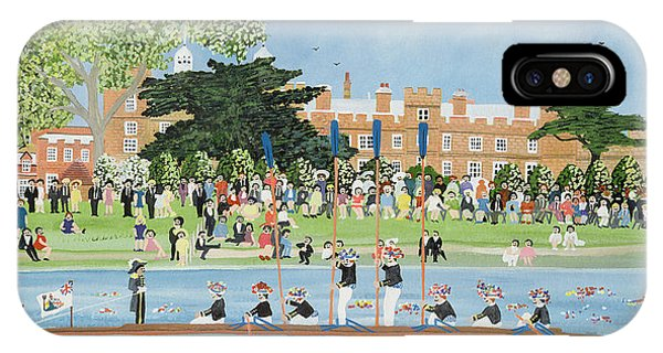 Regatta iPhone Case - The Procession Of Boats At Eton College by Judy Joel
