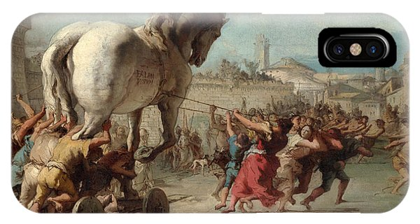 The Procession Of The Trojan Horse Into Troy IPhone Case