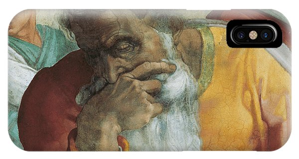 Deep Thought iPhone Case - The Prophet Jeremiah by Michelangelo