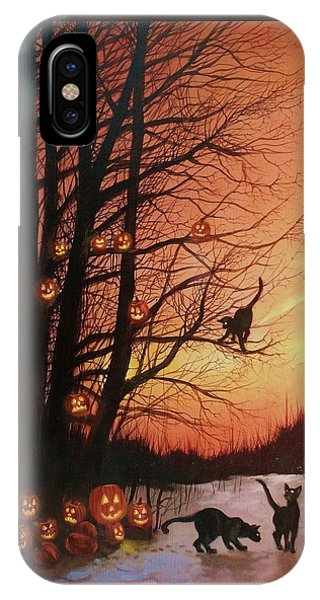 The Pumpkin Tree IPhone Case
