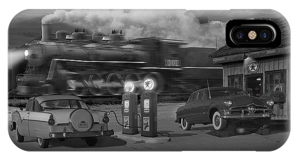Railroad Station iPhone Case - The Pumps - Panoramic by Mike McGlothlen