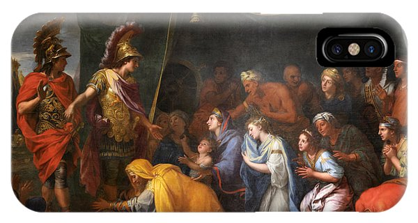 King Charles iPhone Case - The Queens Of Persia At The Feet Of Alexander by Charles Le Brun