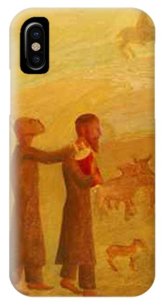 The Rabbi Leading The Angel IPhone Case