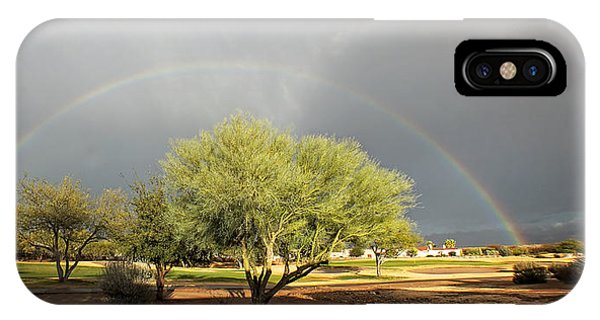 The Rain And The Rainbow IPhone Case
