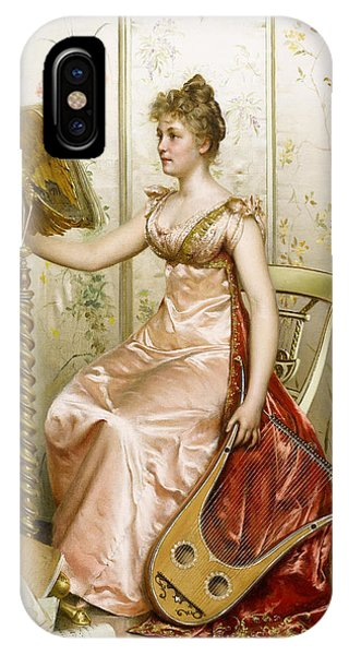 Harp iPhone Case - The Recital by Frederick Soulacroix
