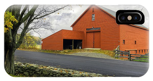 The Red Barn At The John Greenleaf Whittier Birthplace IPhone Case