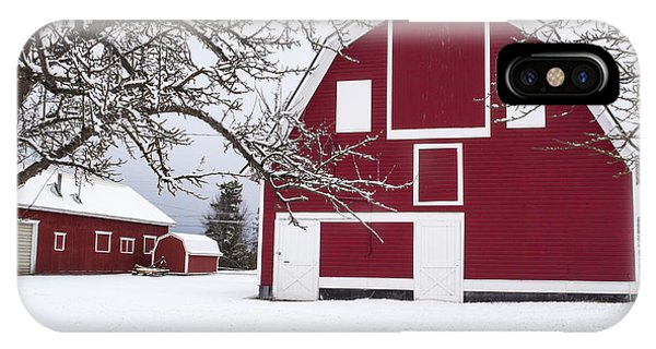 IPhone Case featuring the photograph The Red Barn by Fran Riley