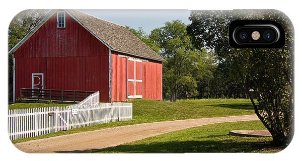 IPhone Case featuring the photograph The Red Barn by Susan Leonard
