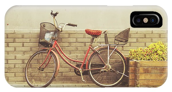 Bike iPhone Case - The Red Bicycle by Jillian Audrey Photography