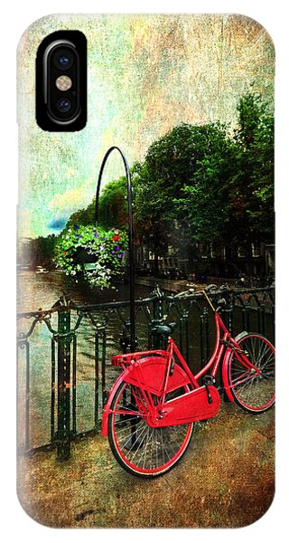 The Red Bicycle IPhone Case